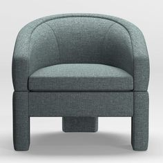 Kessel Round-Back Accent Chair + Reviews | Crate and Barrel Living Room Upholstery, Living Room Chairs, Unique Furniture, Custom Furniture, Professional Upholstery Cleaning, Barrel Chair, Engineered Hardwood, Swivel Chair, Crate And Barrel