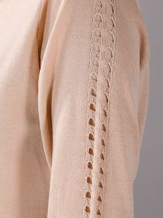 CHLOÉ - perforated sleeve cardigan 5