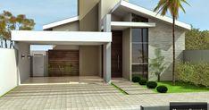 Narrow House Designs, Modern Small House Design, Small Modern Home, House Front Design, Modern House Facades, Mediterranean House Plans, Model House Plan, Dream House Exterior, House Entrance