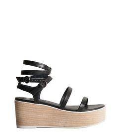 Tibi: Black Aiko Sandal
