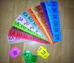 Zabawy kreatywne: Kolorowe sylaby