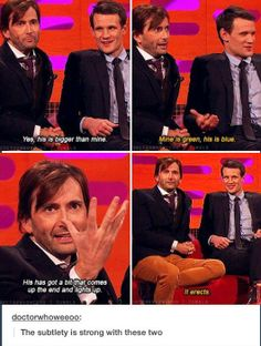 Oh really now!!! Doctor who, interview w/ 10&11 (yes those are their numbers)