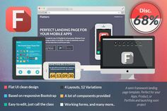 Happy Birthday Indonesia! Let's celebrate w/ Flattern All in One Landing Page. It's 68% OFF!!