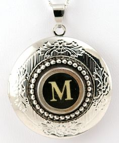 BE STILL MY HEART! Women's Locket  Typewriter Key Locket with Necklace  by qacreate, $49.99