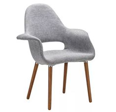 cadeira poltrona eames saarinen organic cinza