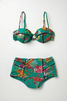 Nanette Lepore Kimono Floral Bikini #anthropologie