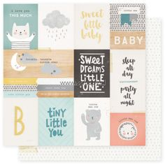 Crate Paper Little You Boy double sided cardstock Little One