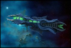 Organic Alien spacecraft by Taena-Doman on DeviantArt Sea Of Stars, Alien Ship, Spaceship Art, Alien Worlds, Space Crafts, Sci Fi Fantasy, Sci Fi Art, Art Sketches, Photo Art