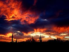 Monsoon Sonoran Sunset by Howard Myers on Capture My Arizona // Sunset with storm action to the west in North Scottsdale