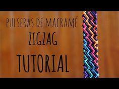 como hacer una pulsera de zig zag arcoiriz tutorial macrame how to make Es. Armband Tutorial, Macrame Bracelet Tutorial, Macrame Necklace, Macrame Jewelry, Macrame Bracelets, Diy Bracelets Chevron, Thread Bracelets, Colorful Bracelets, Friendship Bracelet Patterns