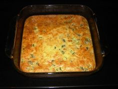 veggie quiche (more like pudding) using jiffy mix