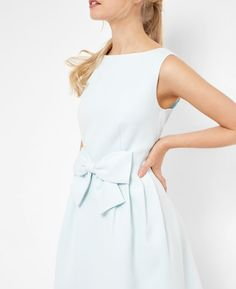 Discover Ted Baker's collection of stunning day and evening designer dresses, sweeping maxi dresses, occasion dresses and show-stopping statement pieces. Bright Blue Dresses, Outlet Clothing, Ted Baker Dress, Mint Dress, Latest Fashion Design, Dress Clothes For Women, Girly Outfits, Dress With Bow, Designer Dresses