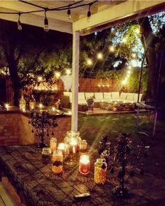 outdoor halloween entertaining space night outdoorspace couch sofa outdoordecor halloween