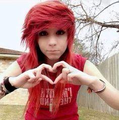#red #scene #emo #heart