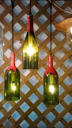 wine bottle lights by CherylwoodForest on Etsy
