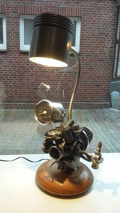 Carburator Steampunk Lamp