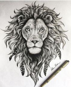 detail on this lion illustration is insane! - The detail on this lion illustration is insane! -The detail on this lion illustration is insane! - The detail on this lion illustration is insane! Leo Lion Tattoos, Animal Tattoos, Body Art Tattoos, Sleeve Tattoos, Lion Thigh Tattoo, Mandala Lion Tattoo, Lion Back Tattoo, Tatoos, Tattoos Of Lions