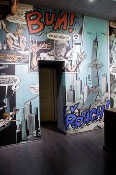 interior of Kaja Saudek's Comics Museum