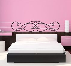 1000 images about wall art on pinterest wall stickers - Vinilos cabezal cama ...