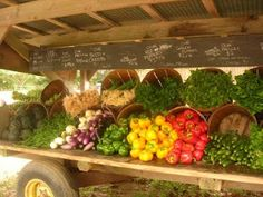 Pike's Farm Stand, Sagaponack - locally grown long island vegetables displayed beautifully.