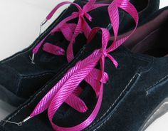 """""""Vacation in Cerise"""" Shoelaces - ♥ Buy Your Shoelaces Online the Easy Way ♥- Over 15,000 Shoelace Designs Available - You Choose the Length - You Choose the Tips - You Get Just What You Want"""