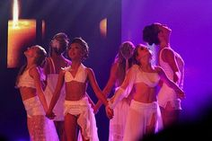 Sophia Lucia, autumn miller, Mia Diaz, and 3 other dancers perform circle of hope at the KAR tv awards