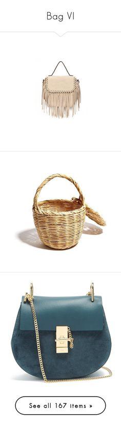 """Bag VI"" by wanda-india-acosta ❤ liked on Polyvore featuring bags, handbags, shoulder bags, beige handbags, faux leather handbags, vegan handbags, top handle bags, pink handbags, blue and chloe crossbody"