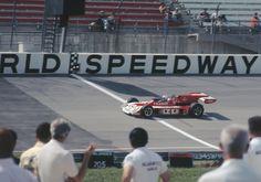 1973 Apr - Texas World Speedway - Al Unser #4 Parnelli-Offy Qualifying.   Flickr - Photo Sharing!