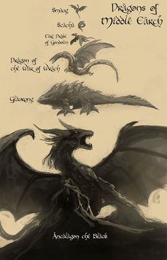 People who had seen the second Hobbit movie already know of the Dragon Smaug, but not many know of the other, more ancient, and far bigger dragons that . Dragons of Middle Earth Legolas, Le Hobbit Thorin, Thranduil, Hobbit Hole, Jrr Tolkien, Dragons Of Middle Earth, Middle Earth Map, Breathing Fire, Illustration