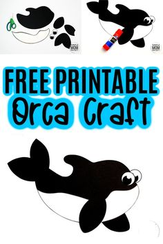 Are you looking for an easy paper art project your preschooler, toddler or kindergartner can do this summer? Use our free printable orca template to make this arctic whale! This fun orca craft is great for letter recognition or an adorable Valentine gift. Your kids will have a killer time making him! #orca #orcacrafts #arcticcrafts #arcticanimalcrafts #SimpleMomProject Ocean Animal Crafts, Whale Crafts, Ocean Crafts, Animal Crafts For Kids, Winter Crafts For Kids, Easy Preschool Crafts, Easy Toddler Crafts, Printable Crafts, Free Printable