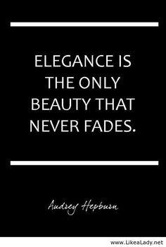Elegance is...