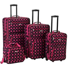 Want it!!! Red Three Piece Cross Luggage Set | My Style ...