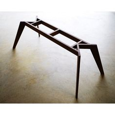 Vista St Dining Table- Steel dowel and interlocking joinery give this table base…