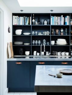 Going to the Dark Side with Mad About the House in London (Remodelista: Sourcebook for the Considered Home) Beautiful Kitchens, Cool Kitchens, Victorian Living Room, Mad About The House, Desk Inspiration, Interior Inspiration, Dining Room Bar, Living Room Pictures, New Kitchen