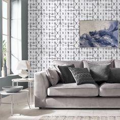 Indigo Grey Wallpaper   Graham & Brown UK