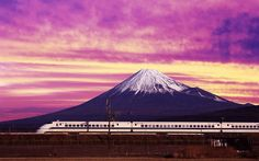 Shinkansen Bullet Train and Mount Fuji Japan picture, Shinkansen Bullet Train and Mount Fuji Japan photo, Shinkansen Bullet Train and Mount Fuji Japan wallpaper Hdr Wallpaper, Train Wallpaper, World Wallpaper, Landscape Wallpaper, Painting Wallpaper, Japan Picture, Japan Photo, Monte Fuji Japon, Fuji Mountain