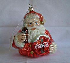 Coca Cola 1999 Polonaise Collection Kurt Adler Blown Glass Vintage Santa Poland
