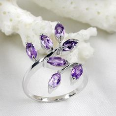 Wholesale Fashion Jewelry,Fine Gemstone Jewelry-925 Sterling Silver Amethyst Ring(xb0159agz)