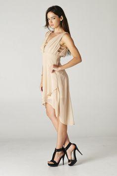Taylor Dress in Warm Mocha