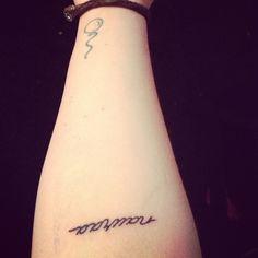 new tattoo, nauraa; laugh in finnish