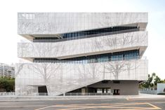 Image 1 of 53 from gallery of Comprehensive Cultural Service Building / Zhubo Design. Photograph by Xuetao Zhang Office Building Architecture, Cultural Architecture, Building Facade, Facade Architecture, Ancient Architecture, Residential Architecture, Commercial Architecture, Concept Architecture, Landscape Architecture