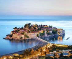 Sveti Stefan island, Montenegro photo on Sunsurfer The Mysterious Island, Unique Hotels, Europe Photos, Stone Houses, Small Island, Sandy Beaches, Montenegro, Natural, Beautiful Places