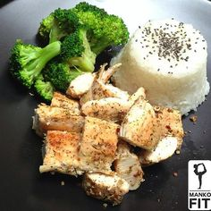 Post workout meal: 1/2 cup white rice with 1tsp chia seeds , 6oz chicken, half cup broccoli via instagram.com/mankofit