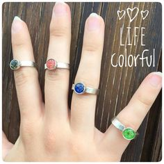 """Gefällt 4 Mal, 1 Kommentare - my little flower story 🌷 (@kiezelfen) auf Instagram: """"💙💚💛❤️ #lifecolorful and be happy 🙌💕#new#colorful #ring #collection with real #flowers…"""""""