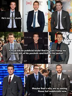 Chris Evans, you stand how you want because you are hot.