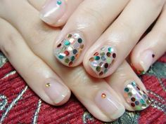 Shiny polka dot parade (it's a bit overkill, but I think a few on each finger would be cute)