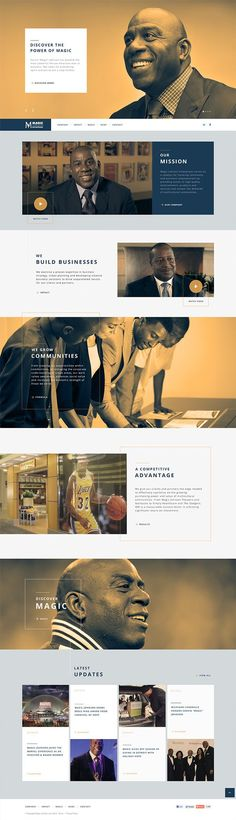 http://MagicJohnson.com on Web Design Served