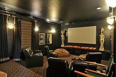 Media room-color scheme Basement Inspiration, Basement Ideas, Room Color Schemes, Room Colors, Home Goods Decor, Home Reno, Reno Ideas, Game Room, Perfect Place