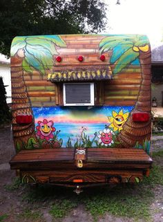 Tiki Hut meets cool paint job! (Thanks to Bean Spence for sharing his 63…