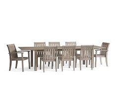 Chatham X-Large Extending Dining Table & Chair Set, Gray #potterybarn